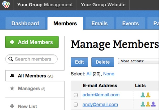 Group Spaces Membership Management