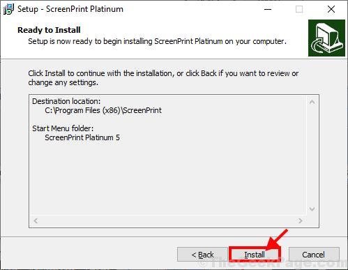 Install Screen Print