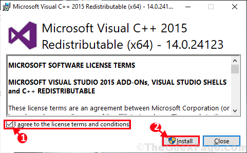 Install Vc2015