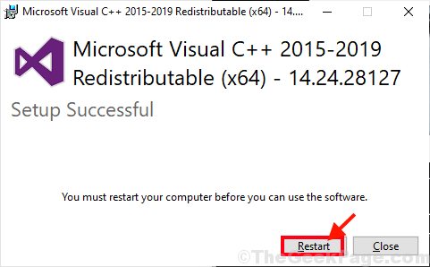 Restart After Installation