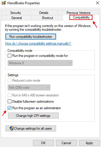 Run Program Admin Compatibility