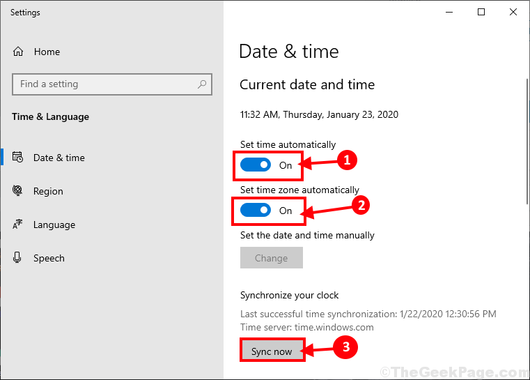 Sync Date And Time