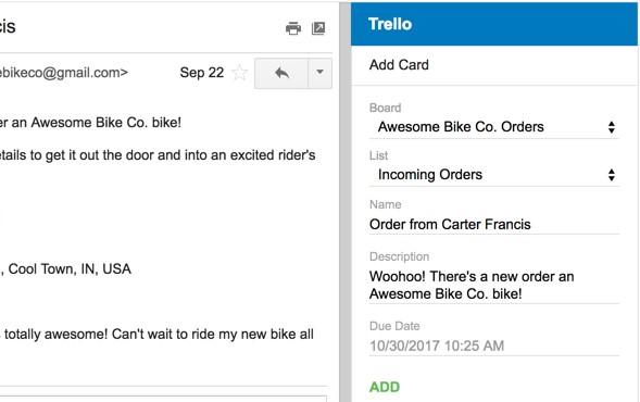 Trello Gmail