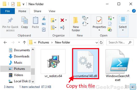 Vcruntime File Copy