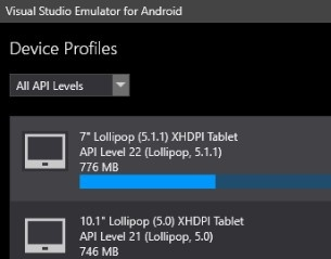 Visual Studio Emulator Android