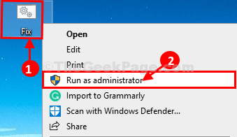 Fix Run As Admin