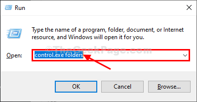 Folder Options Run