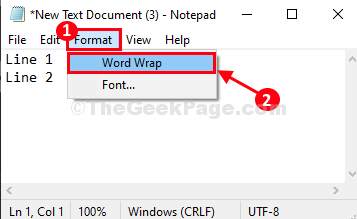 Format Word Wrap