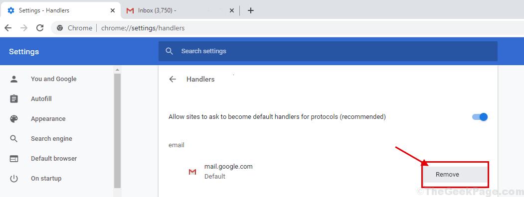Remove Handler