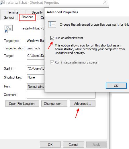 Run Admin Shortcut