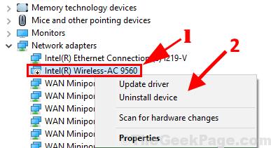 Uninstall Intel 9540