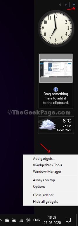 Desktop Gadget Appears As A Customizable Sidebar