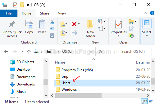 In The C Folder, Locate And Double Click On Users Folder