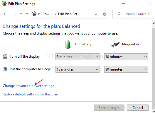 In The Next Window, Click On Change Advanced Power Setings
