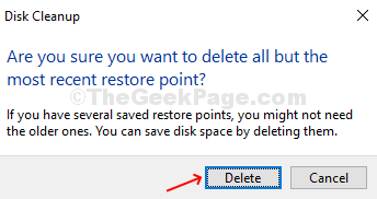 In The Prompt, Click On The Delete Button To Confirm