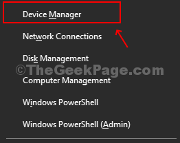 Press Win + X, Select Device Manager From Menu