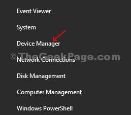 Press Win + X Key, Click On Device Manager From The Menu