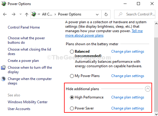 Reboot Pc To Restore The Power Plans