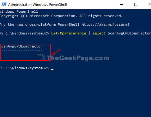 Run Command To Check The Current Cpu Usage Limit For Windows Defender