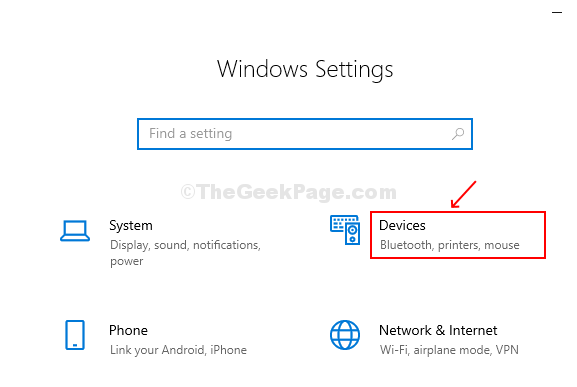 Select Devices From Settings Window