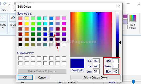 Select The Color Of Your Choice And Note The Red, Green, Blue Value