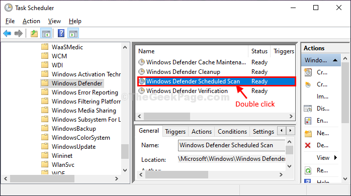 Windows Defender Scan Double Click