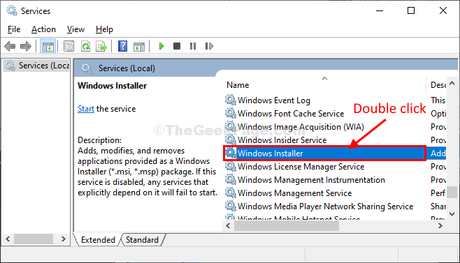 Windows Installer Double Click