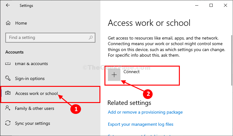 Access Work Or School Connect