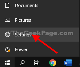 Click On Windows Icon To Go To Setttings
