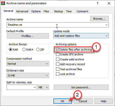 Delete Files After Archiving Min