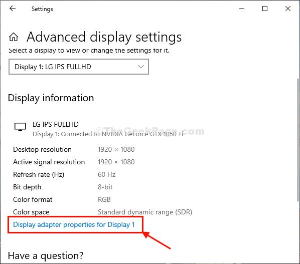 Display Adapter Props