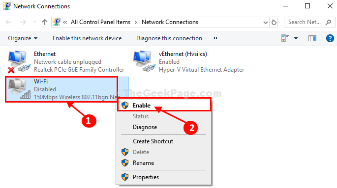 How to Fix Red cross on Network icon in Windows 10