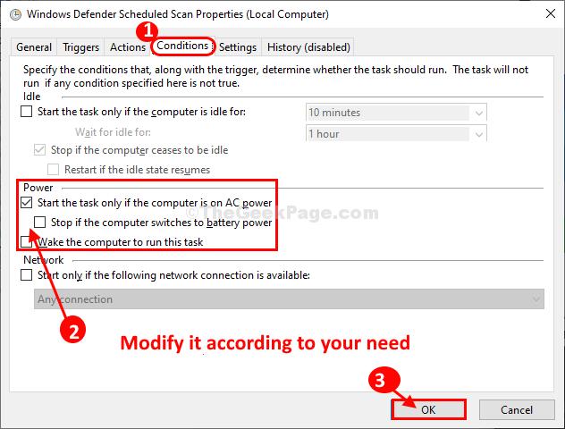 Modify Conditions