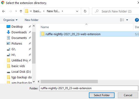 Ruffle Extension Select Min