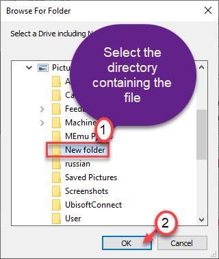 Select Folder Ok Min