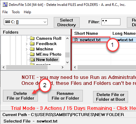 Select To Delete The File Min