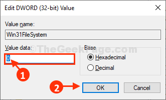 Win31 Value Data