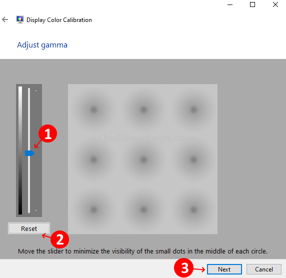 Adjust Gamma Slider Reset Next