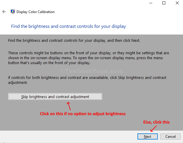 Adjust Brightness Next If No Option Skip Brightness And Contrast Adjustment Elese, Nxt