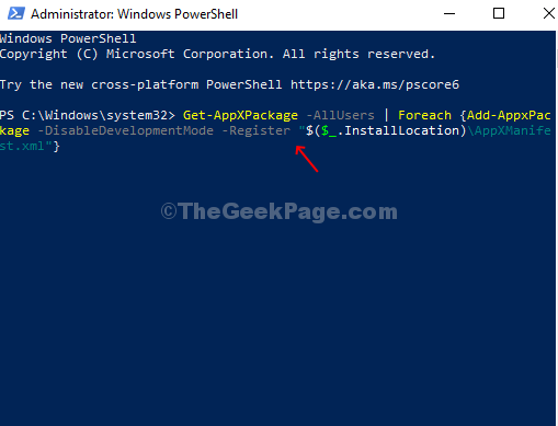 Administrator Powershell Window Run Command Enter