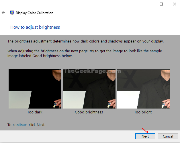 Check Brightness Examples Next