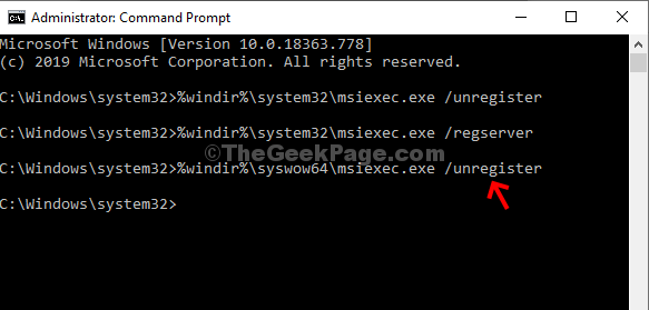 Command Prompt (admin) Execute Command 3 Enter