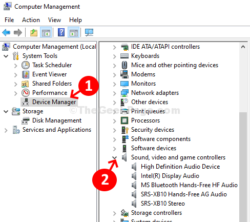 Computer Management Device Manager Sound, Video, And Game Controller Expand
