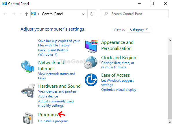 Control Panel Programs