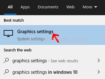 Desktop Start Graphics Settings Result