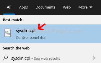 Desktop Start Sysdm.cpl Enter