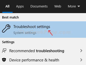 Desktop Windows Icon Search Box Troubleshooting Troubleshoot Settings