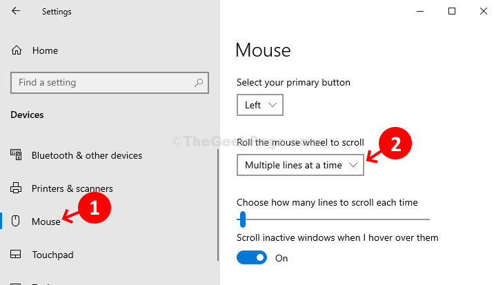 Devices Mouse Multiple Lines At A Time