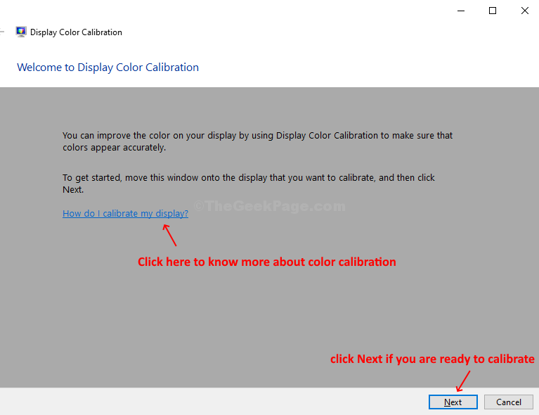 Display Color Calibration How Do I Calibrate Display Or, Click Next