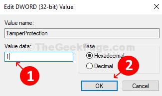 Edit Dword (32 Bit) Value Window Value Data Field 1